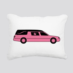 Pink And Black Hearse Rectangular Canvas Pillow