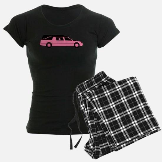 Pink And Black Hearse Pajamas