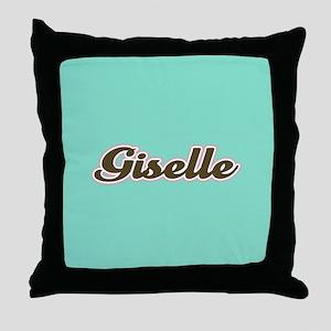 Giselle Aqua Throw Pillow