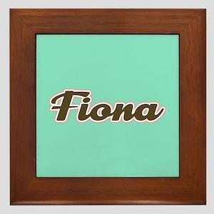Fiona Aqua Framed Tile