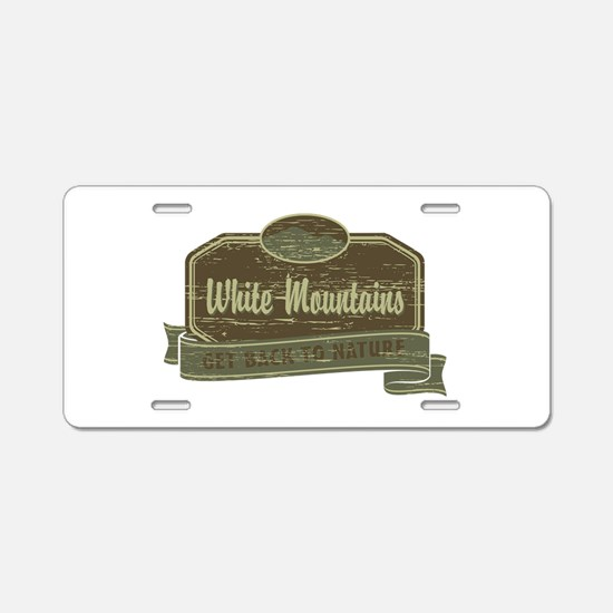 White Mountains: Get Back to Nature Aluminum Licen