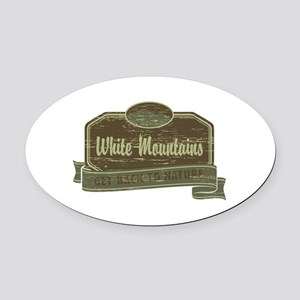 White Mountains: Get Back to Nature Oval Car Magne