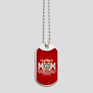 Navy Mom Wears RED Dog Tags