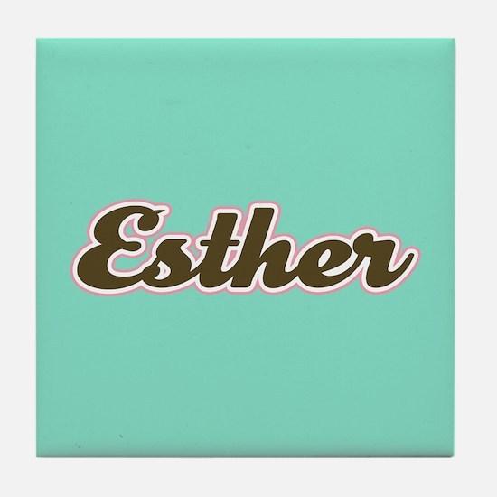 Esther Aqua Tile Coaster