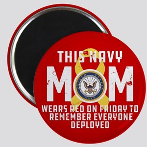 Navy Mom Wears RED Magnet