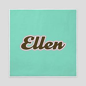 Ellen Aqua Queen Duvet