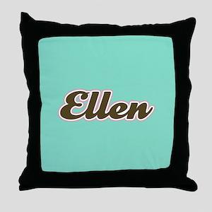 Ellen Aqua Throw Pillow