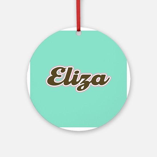 Eliza Aqua Ornament (Round)