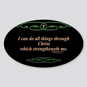 Philippians 4 13 Cross Sticker