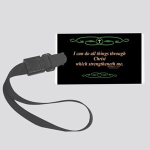 Philippians 4 13 Cross Luggage Tag
