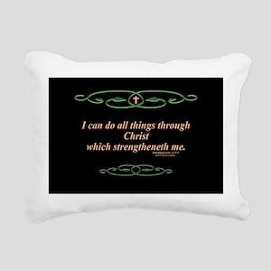 Philippians 4 13 Cross Rectangular Canvas Pillow