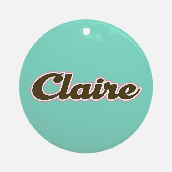 Claire Aqua Ornament (Round)