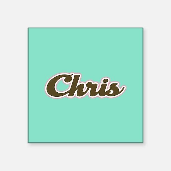 Chris Aqua Sticker