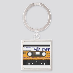 WRFR's I Made You This Mix Tape Square Keychain