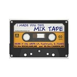 WRFR's I Made You This Mix Tape Rectangle Magnet