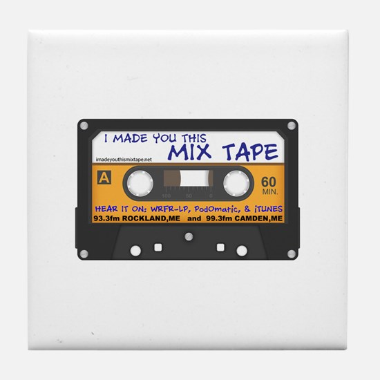 WRFR's I Made You This Mix Tape Tile Coaster