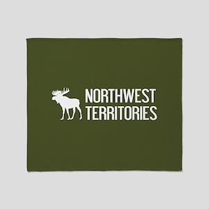 Northwest Territories Moose Throw Blanket