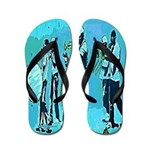 Banksy Jazz Band Graffiti Flip Flops