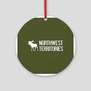 Northwest Territories Moose Round Ornament