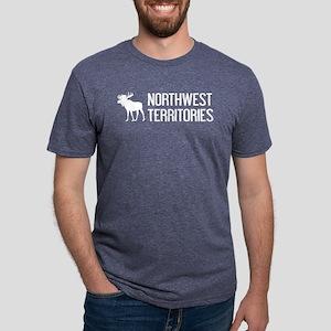 Northwest Territories Moose Mens Tri-blend T-Shirt