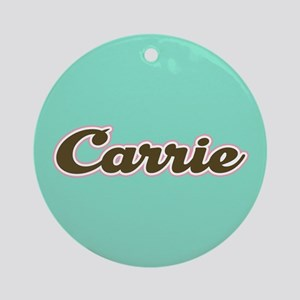 Carrie Aqua Ornament (Round)