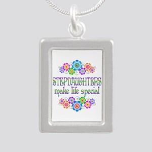 Stepdaughters Make Life Silver Portrait Necklace