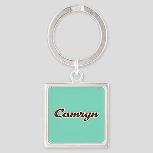 Camryn Aqua Square Keychain