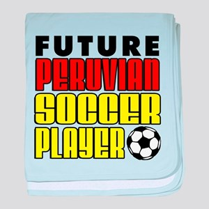 Future Peruvian Soccer Player baby blanket
