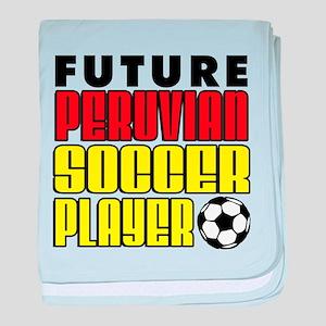 Future Peruvian Soccer Player baby blanket
