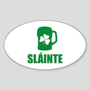 SLAINTE Sticker (Oval)