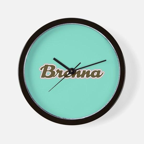 Brenna Aqua Wall Clock