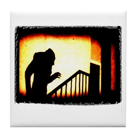 Nosferatu Creepy Tile Coaster