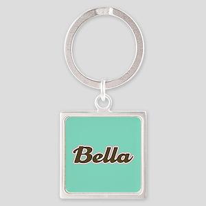 Bella Aqua Square Keychain