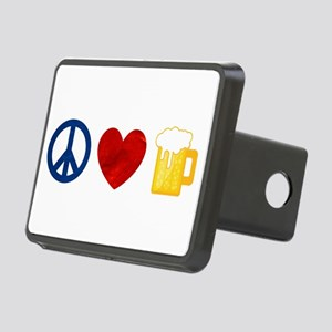 Peace Love Beer Hitch Cover