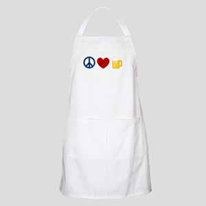 Peace Love Beer Apron