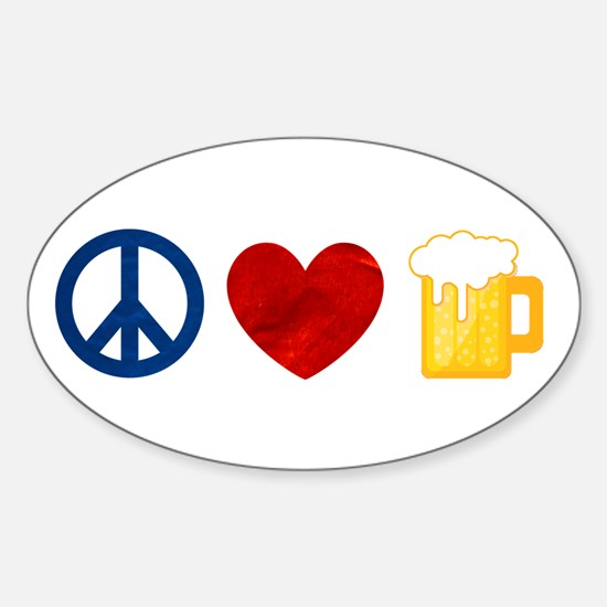 Peace Love Beer Decal