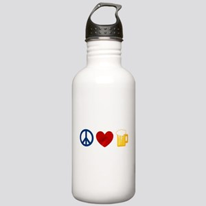 Peace Love Beer Water Bottle