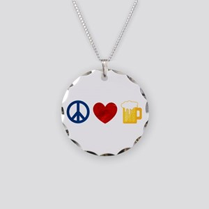 Peace Love Beer Necklace