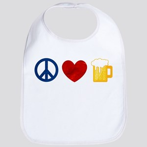 Peace Love Beer Bib