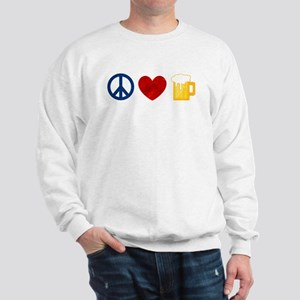 Peace Love Beer Sweatshirt