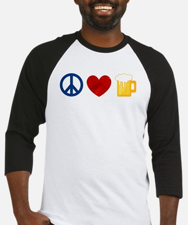 Peace Love Beer Baseball Jersey