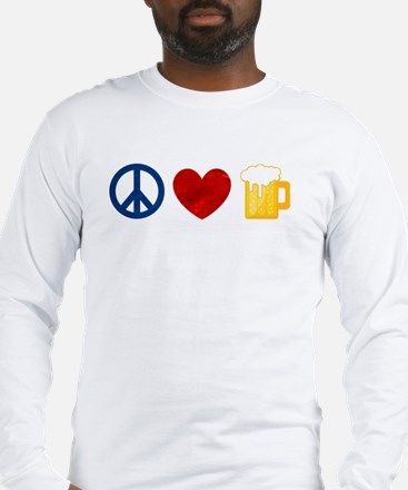 Peace Love Beer Long Sleeve T-Shirt