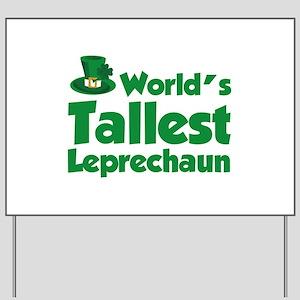 World's Tallest Leprechaun Yard Sign