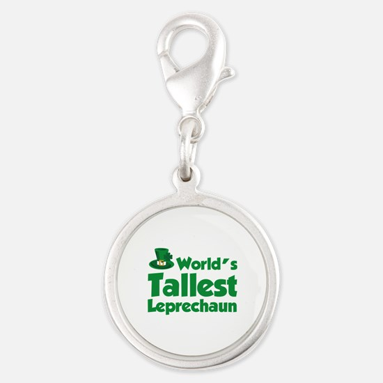World's Tallest Leprechaun Silver Round Charm