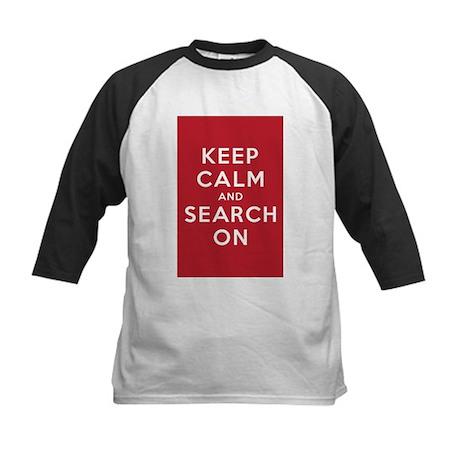 Keep Calm and Search On (Basic) Kids Baseball Jers