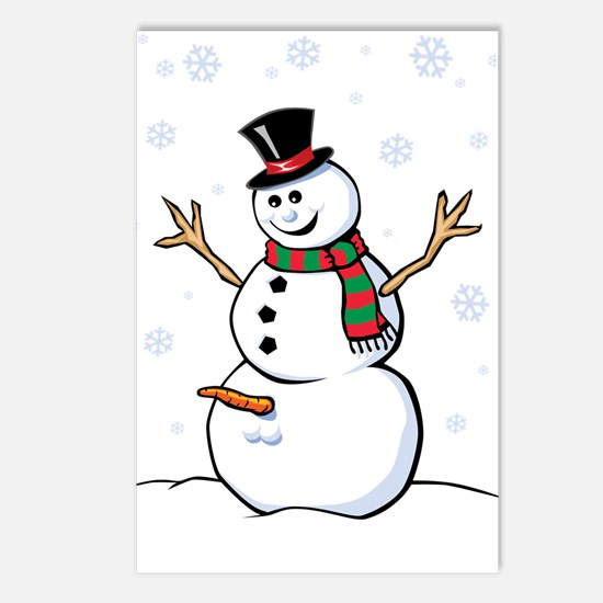 Naughty Snowman Postcards (Package of 8)