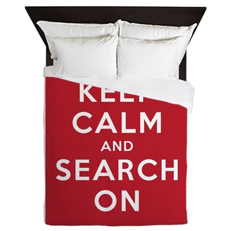 Keep Calm and Search On (Basic) Queen Duvet