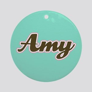 Amy Aqua Ornament (Round)