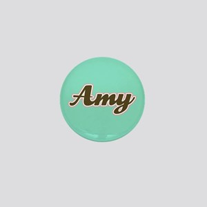 Amy Aqua Mini Button