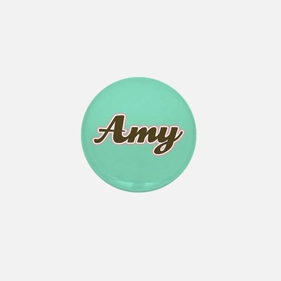 Amy Aqua Mini Button